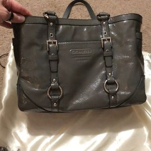 NWT—Coach Signature Gallery patent leather tote